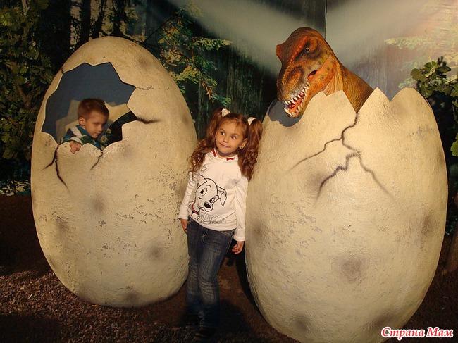 Шоу динозавров, или познавательно-солнеч но-сырный   день.