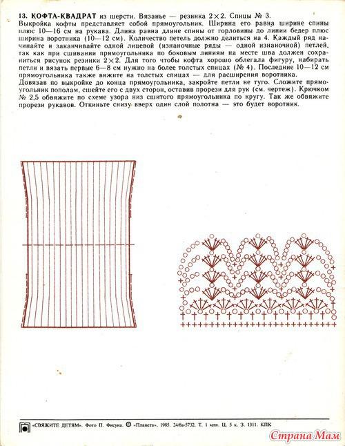Вязание крючком болеро из квадратов крючком