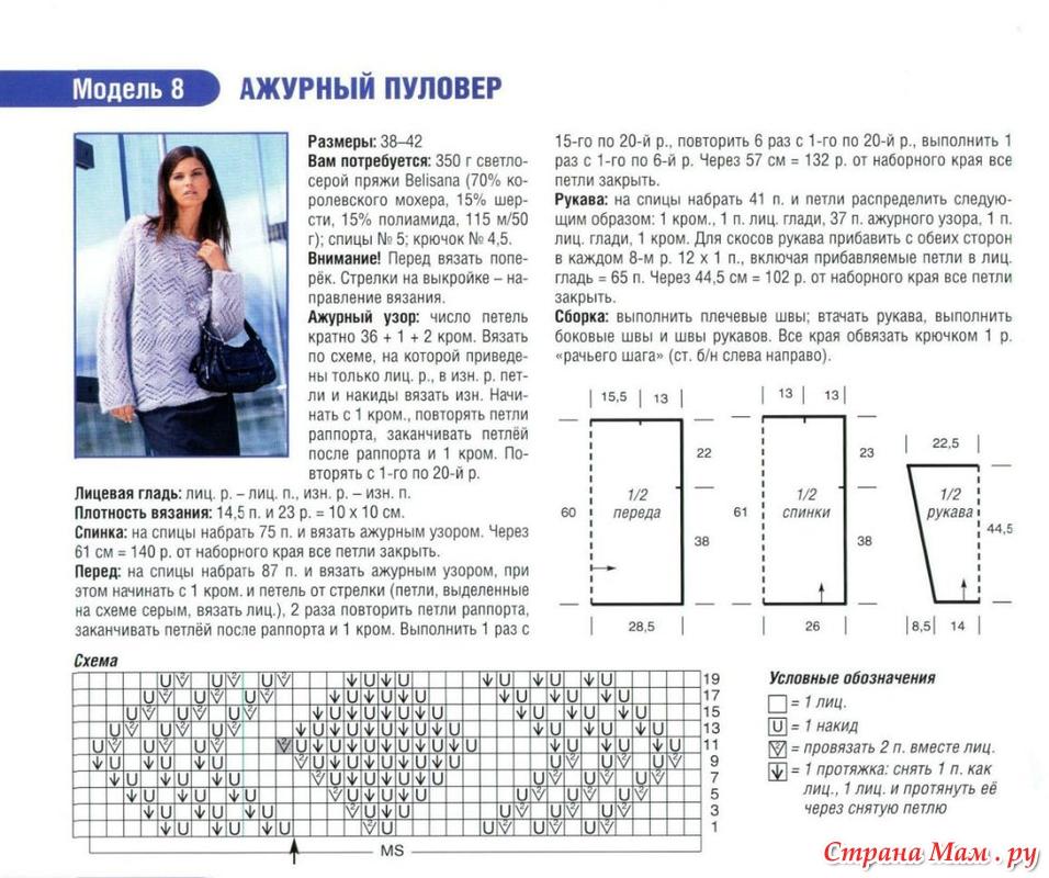 Схема для вязания из тонкого мохера 118