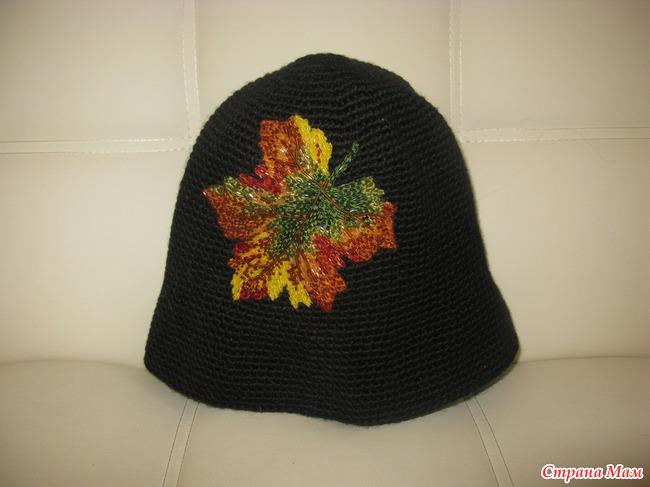 """Выставляю на продажу вязанную шапку с вышивкой бисером.  Покупала ее на выставке  """"Мужчина и Женщина """"..."""