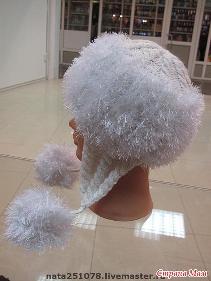 Описание вязания шапки из травки