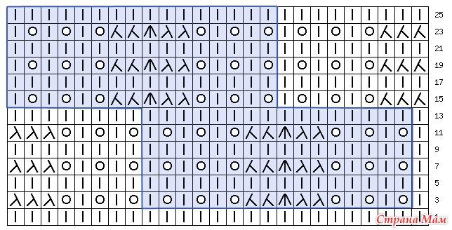 Схема узора: В схеме указаны