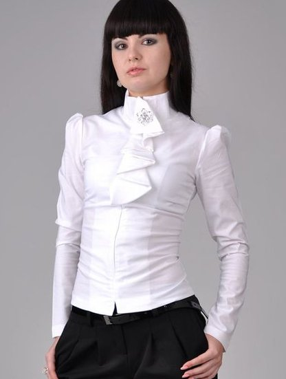 Блузка С Жабо Фото В Спб