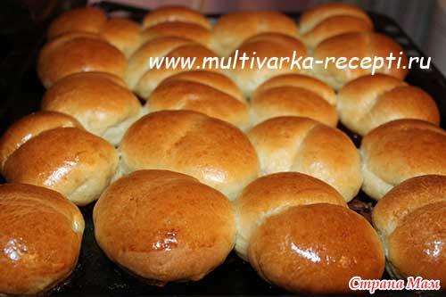 Воздушные булочки в духовке рецепт