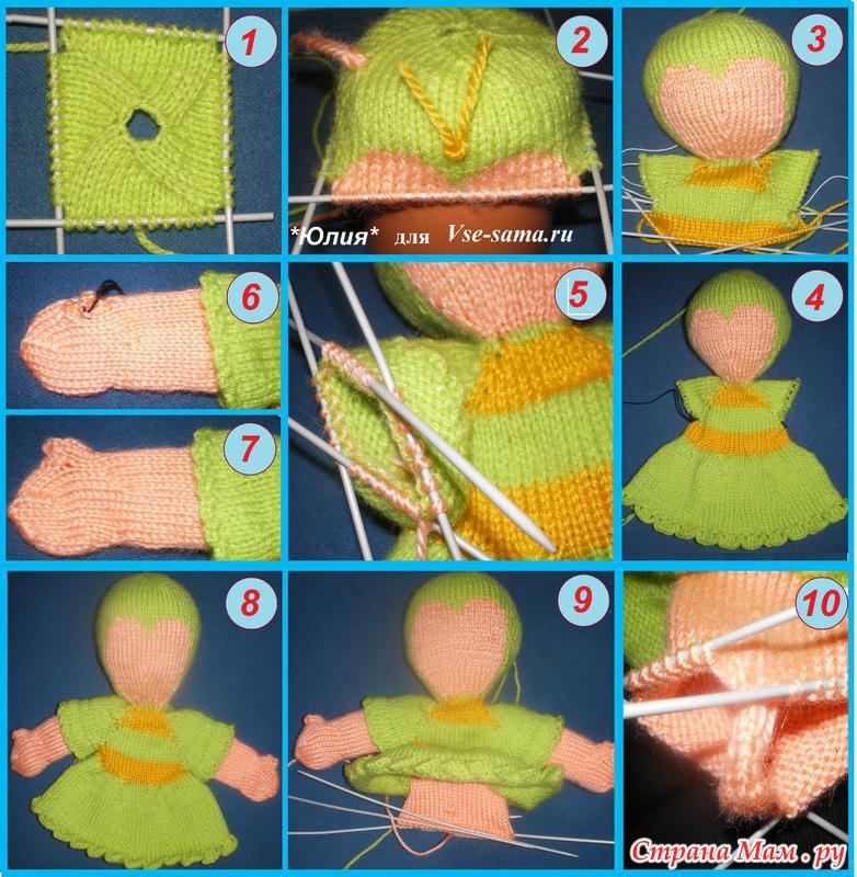 МК: вяжем спицами свитер для куклы