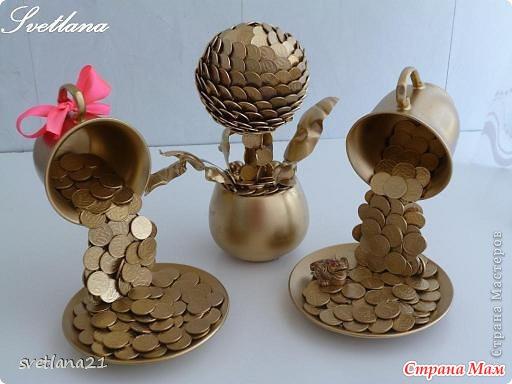 Топиарий для начинающих из монет