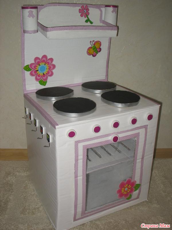 Игрушечная кухонная плита своими руками 55