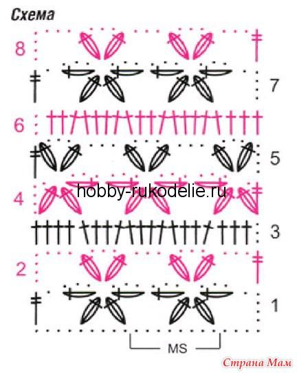 Вязание крючкомцветы схемы узоры 67