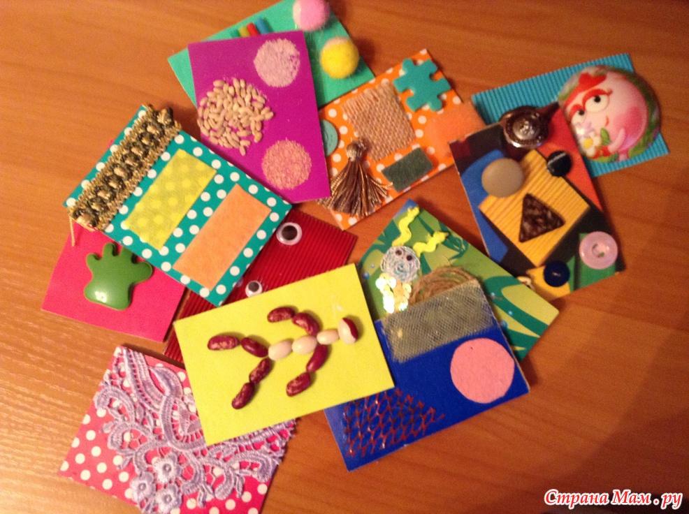 Тактильные карточки своими руками 99