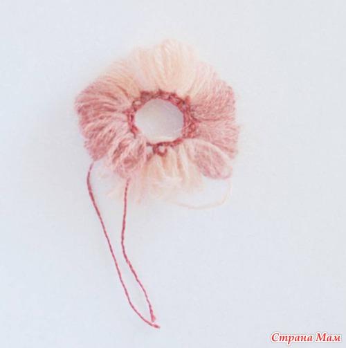 *Необычный цветок - необычным способом вязания