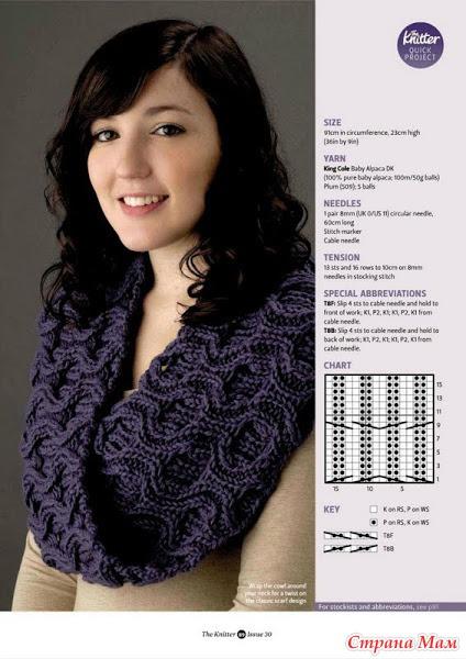 И так приступим... Снуд - шарф