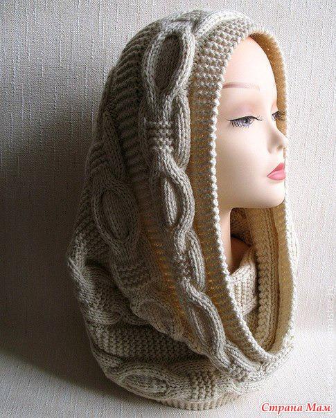 Тёплый и мягкий шарф-снуд