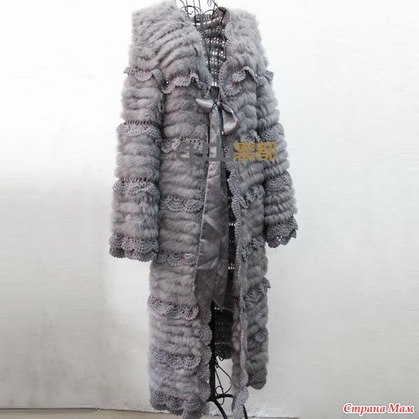 Меховое пальто из нета