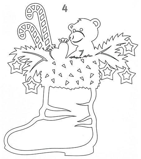 Шаблоны вытынанок для украшения группы в детском саду к новому году