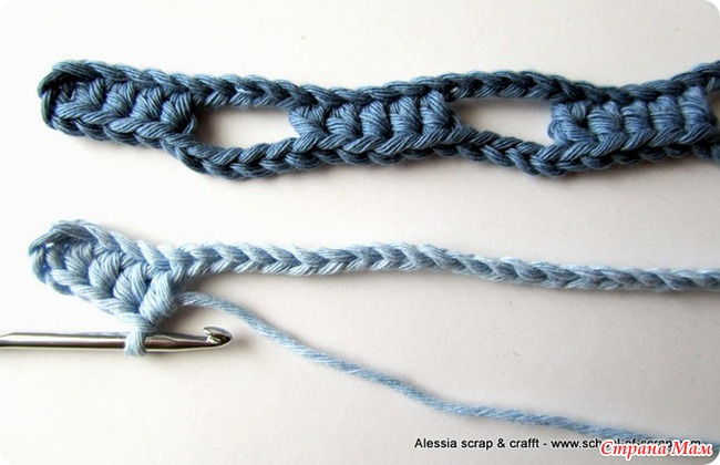 Шарфик-необычной техникой вязания.
