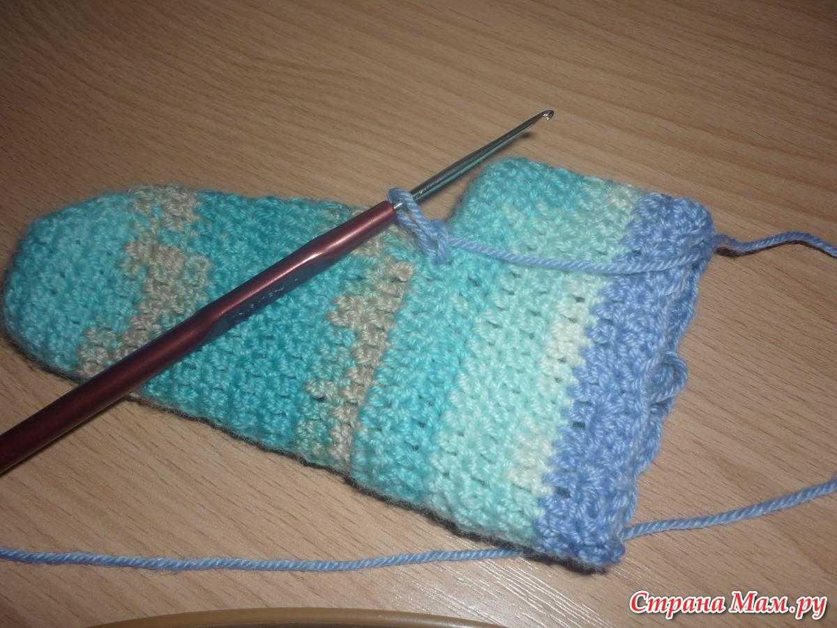 Мастер-класс по вязанию носочков крючком