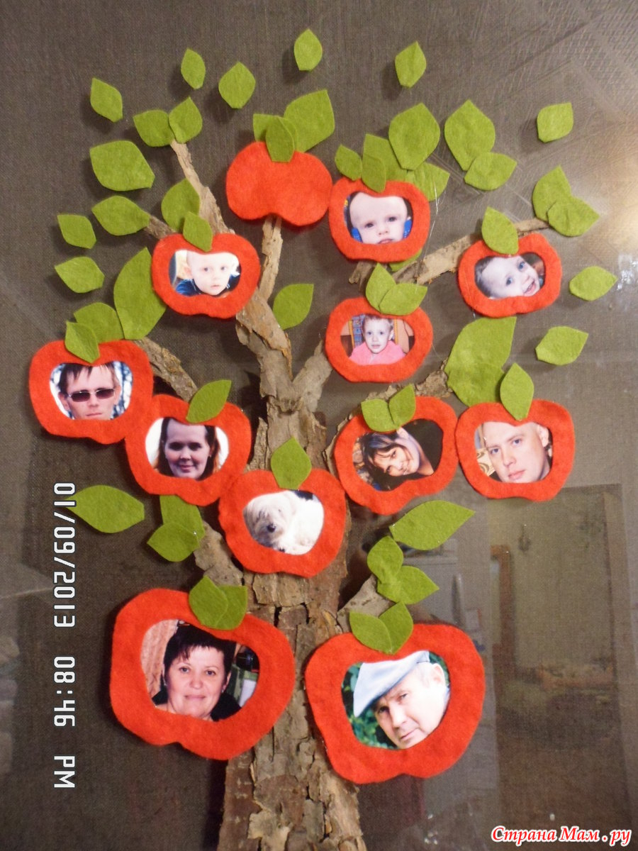 Генеалогическое древо поделка в садик