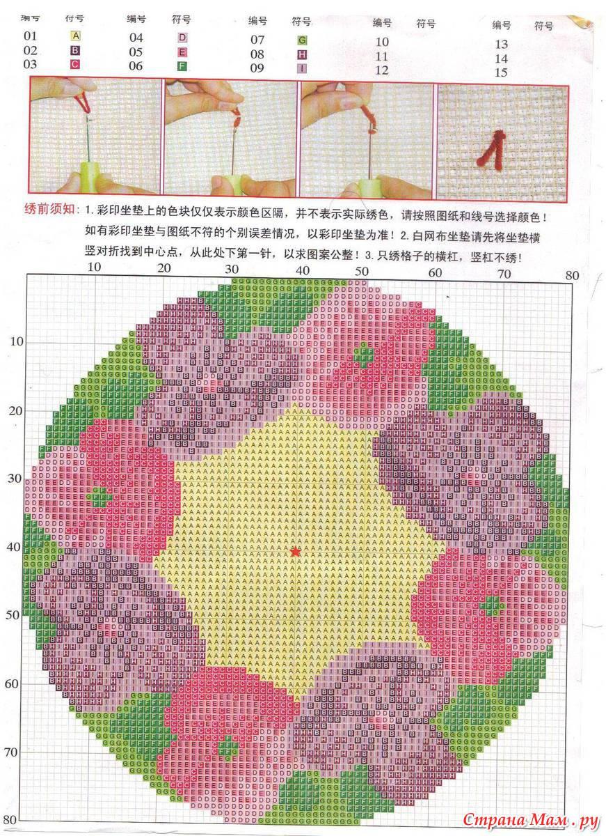 Ковровая вышивка крючком схемы 26