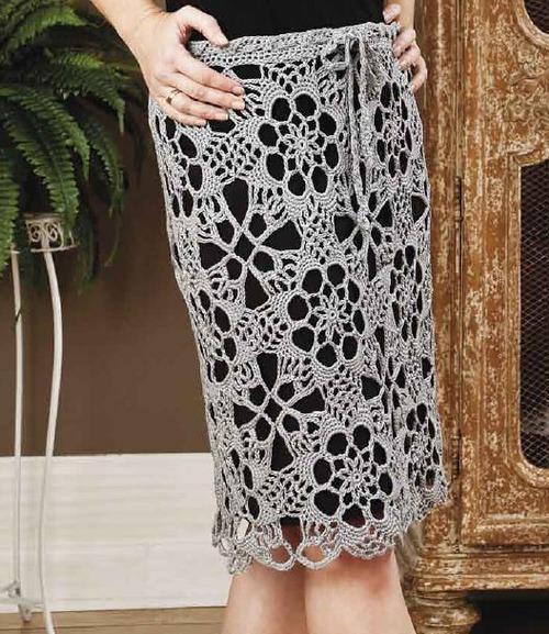 Схемы вязания этой юбки и
