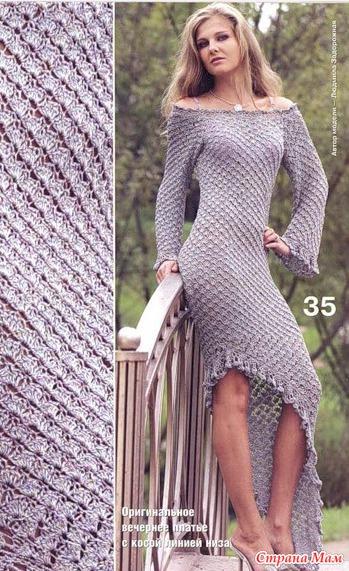 Вязаные платье резинка