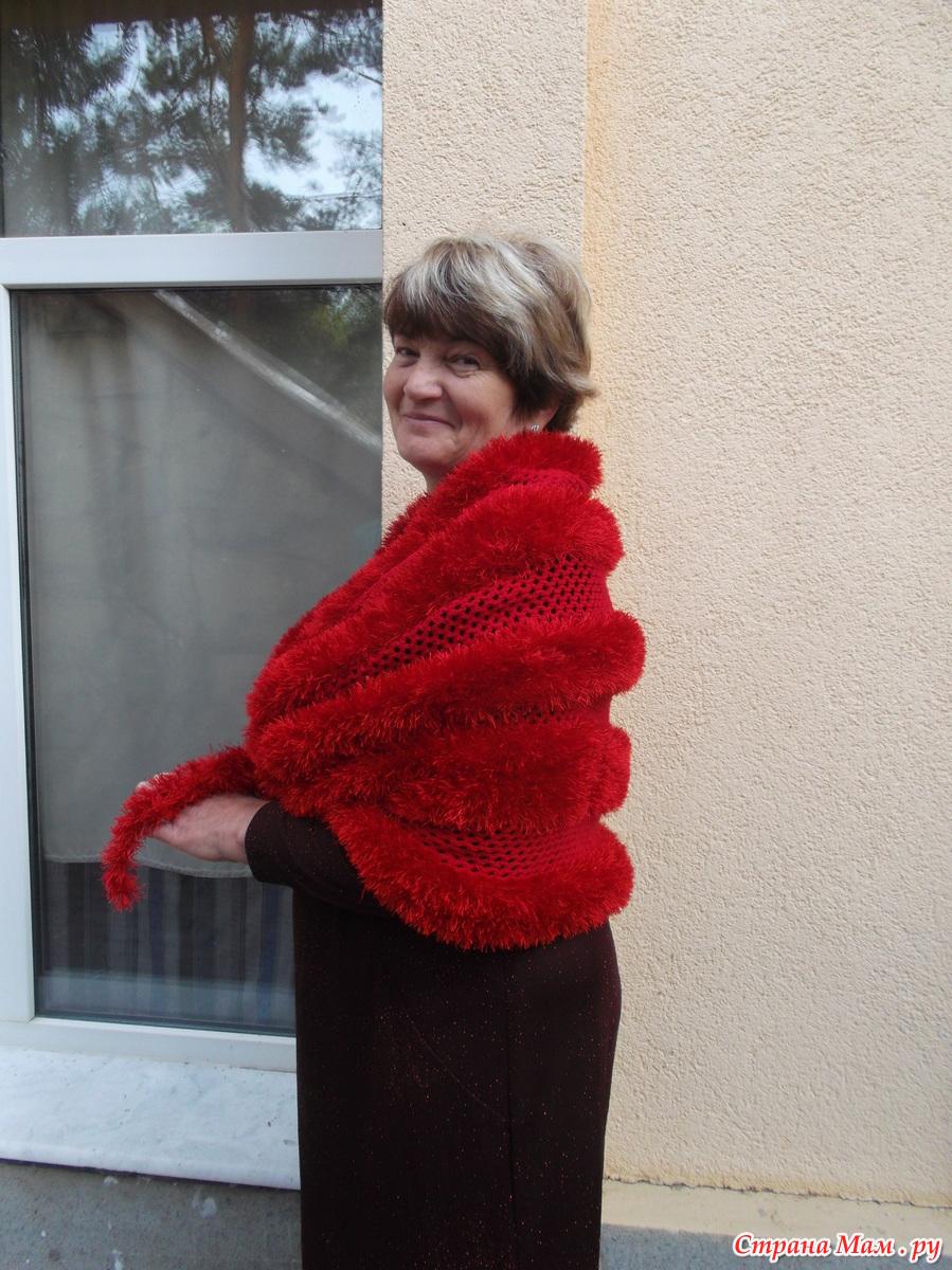 Вязание накидок и палантин