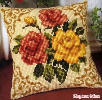 Вышивки в ковровом стиле
