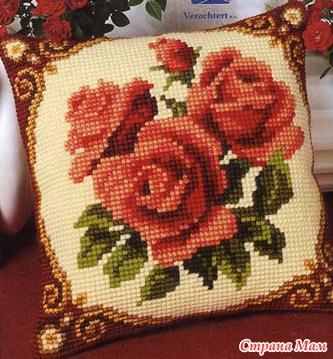 Схемы для вышивки ковров подушек