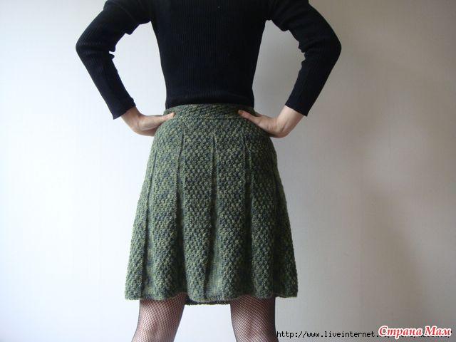 Вязание расклешенные юбки спицами
