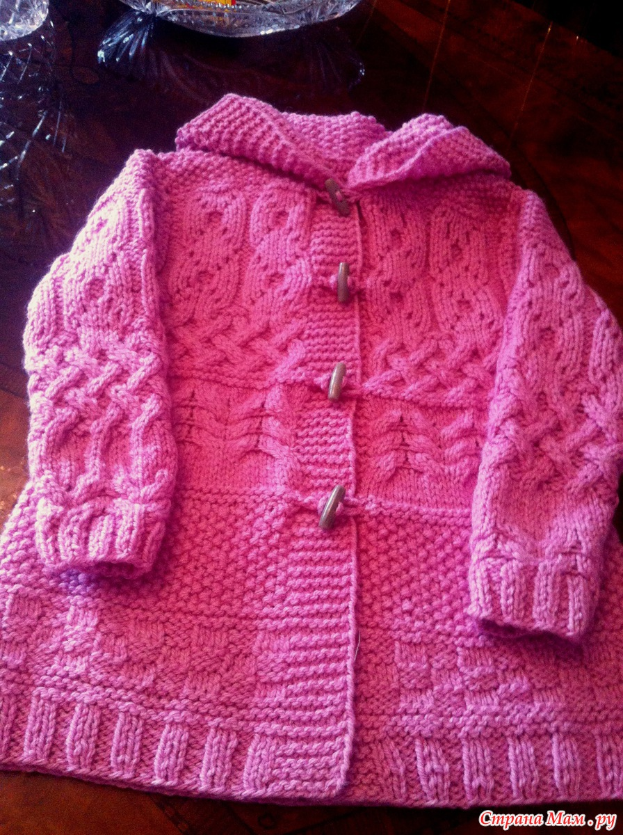 Вязание спицами детям от 0 до 3 лет пальто
