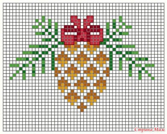 Вышивка крестом схемы к новому году для начинающих