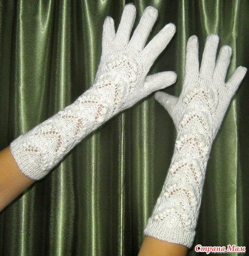 Ажурные женские перчатки