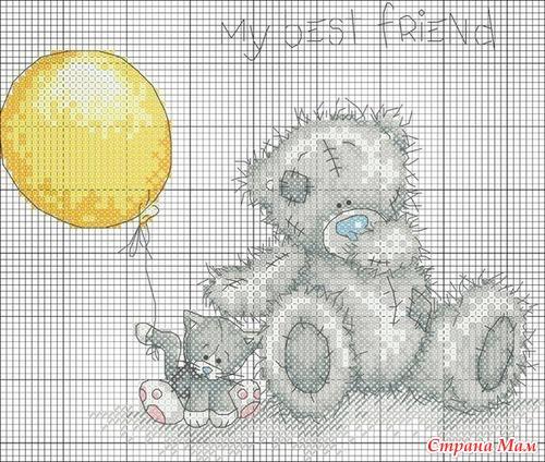 Схемы для вышивки Мишки Тедди