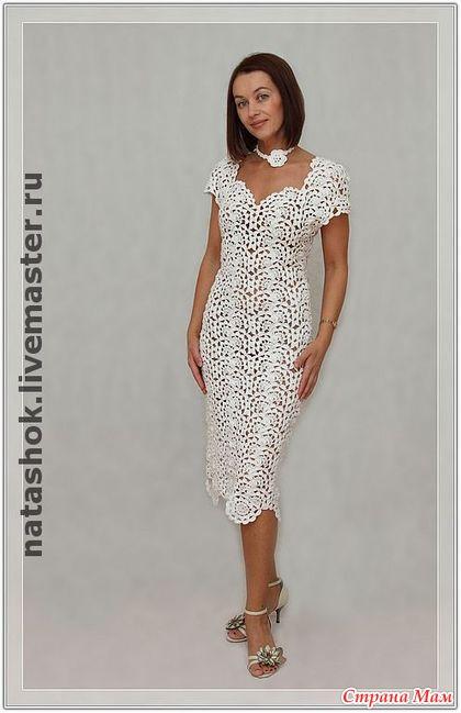 Красивые платья из ленточного кружева