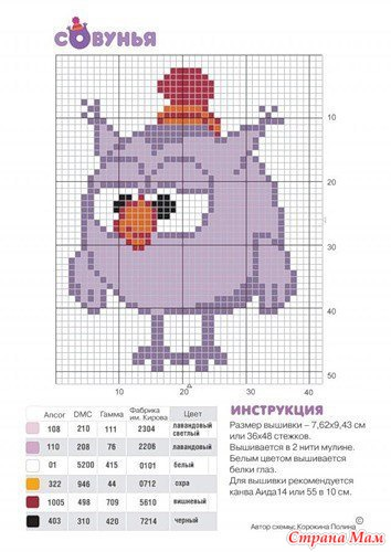 Схемы рисунков для вязания 2