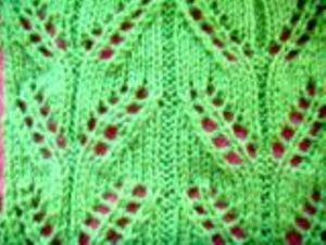 Ажурный узор листочки схема фото 796