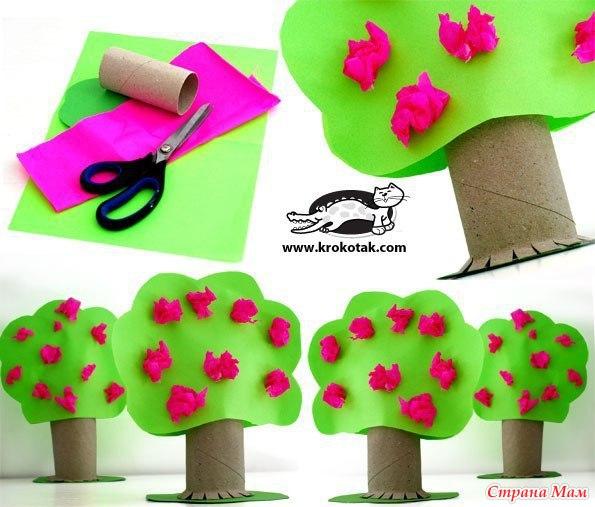 Как сделать дерево из бумаги своими руками