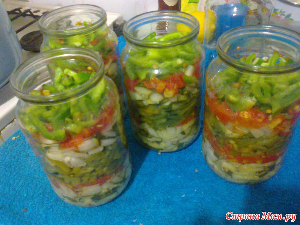 Консервирование салатов пошаговые фото