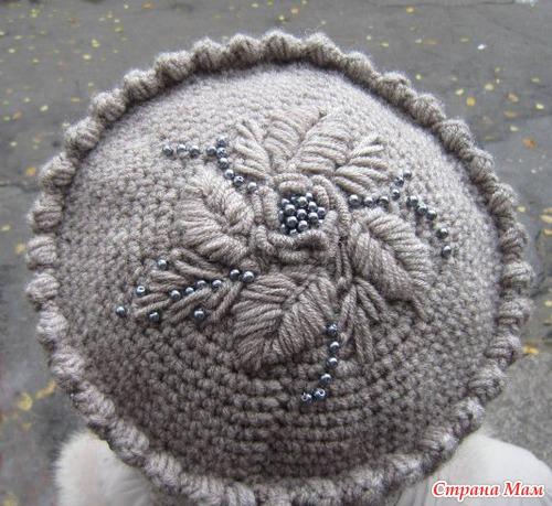 Шапка-кубанка с вышивкой