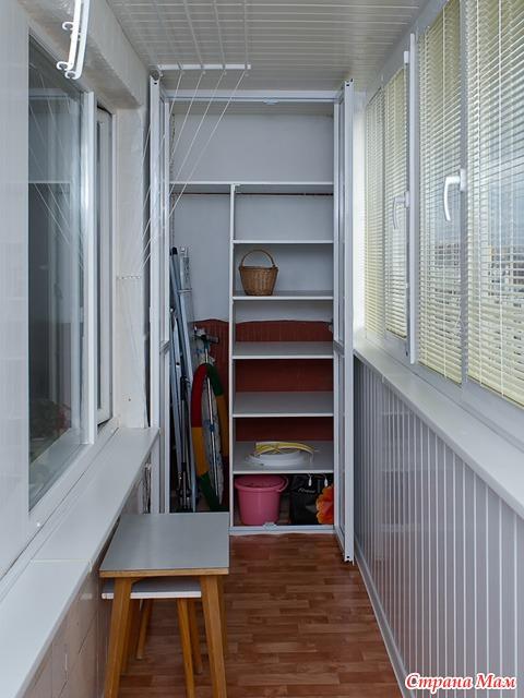 система хранения на балконе фото