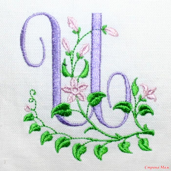 Пошаговая вышивка буквы гладью
