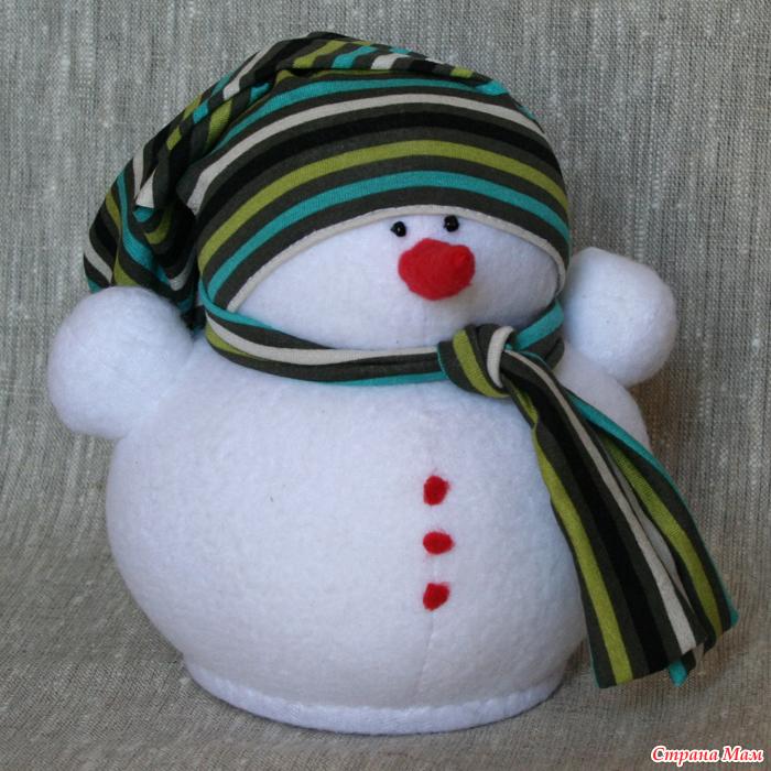 Игрушка новогодняя снеговика своими руками