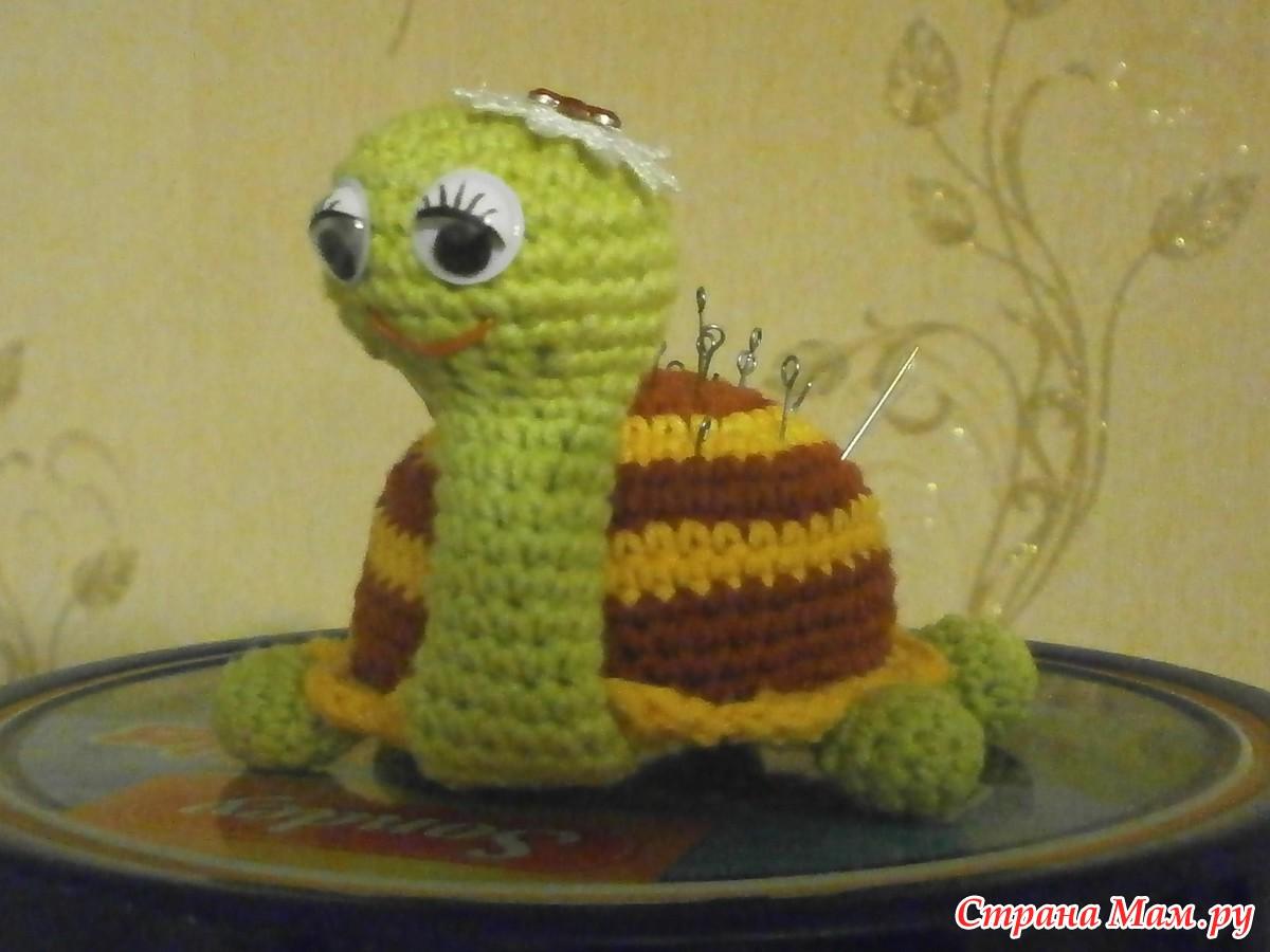 Вязание на спицах черепаха