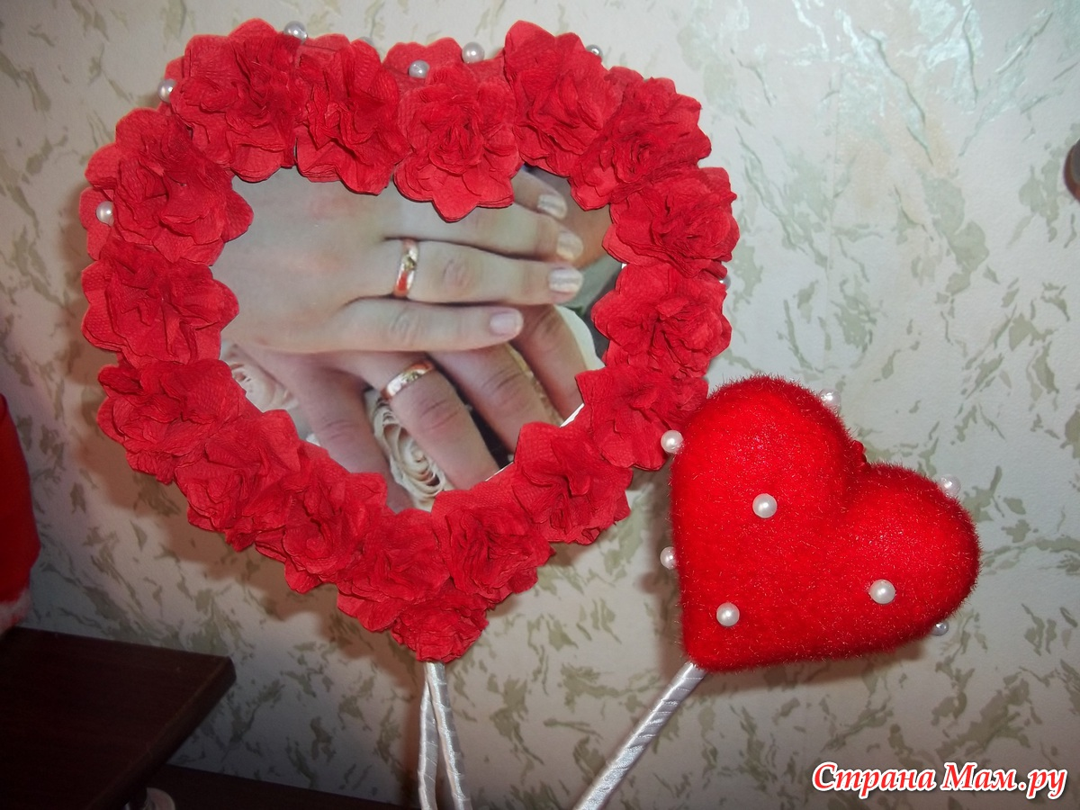 Рамочка сердце своими руками