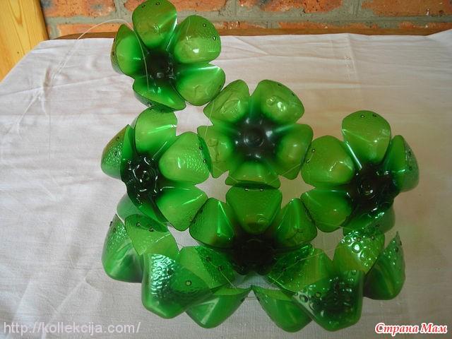 Шар из пластиковых бутылок своими руками для сада