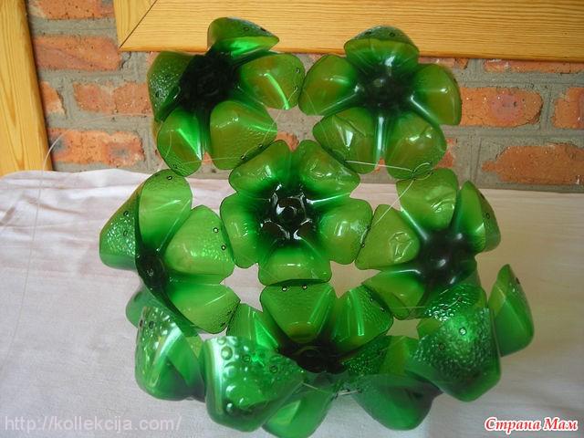Шар из пластиковых бутылок своими руками фото