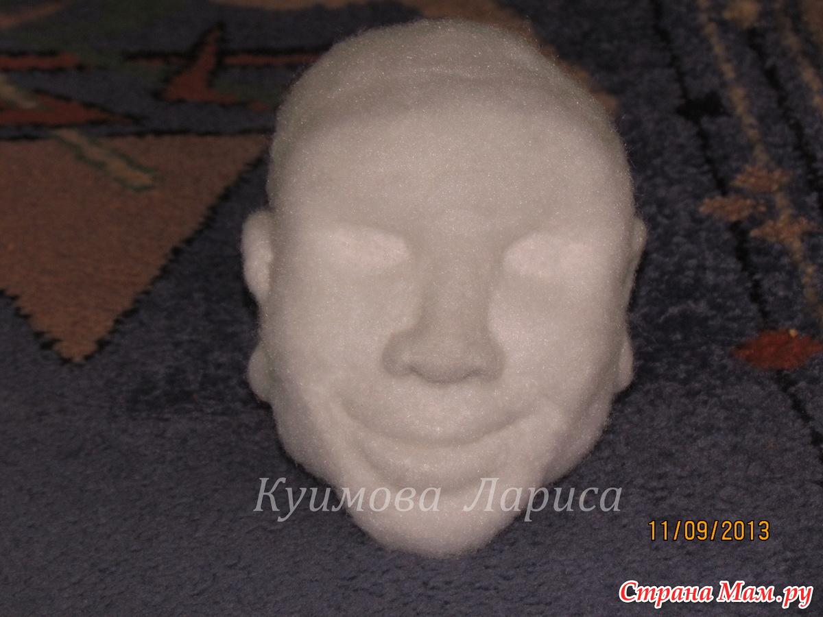Как свалять лицо кукле мастер класс видео