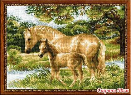 """""""Лошадь с жеребенком"""""""