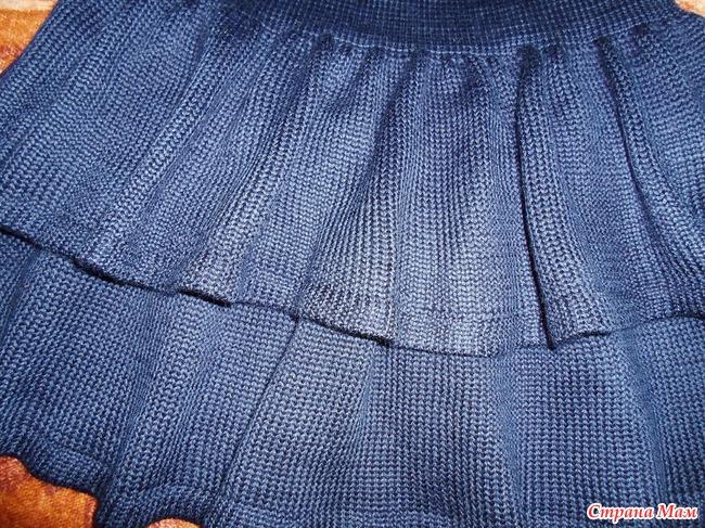 Машинное вязание юбка с клиньями