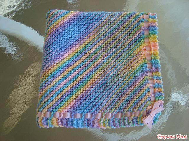 Вязаный шарф из меланжевой пряжи Вяжем с Лана