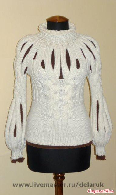 Женские свитера своими руками